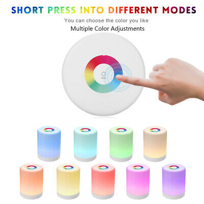 Rechargeable Smart Hook Night Lights Multi-Color Induction Dimmer LED Lamp