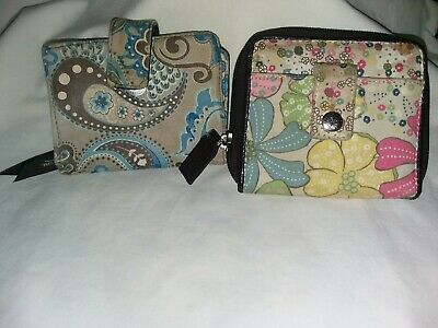 Thirty-One 31 Peacook Paisley & Free Spirit  Retired Patterns Mini wallets