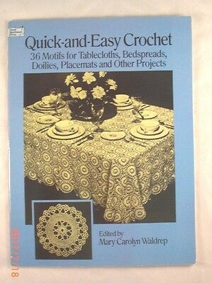 Quick-and-Easy Crochet - Dover Needlework Series - 36 Motif Patterns