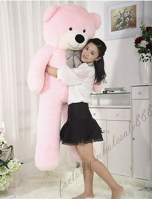 "63in. ""pink""Teddy Bear Giant Huge Big Stuffed Animals Plush Soft toys doll gift"