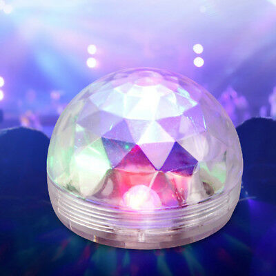 Mini Disco Party Light Ball USB Sound Control Crystal Lamp LED RGB Festivals NEW
