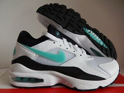 the best attitude 54a5f 30728 Mens Nike Air Max 93 White-Sport Turquoise-Black Sz 7  306551-