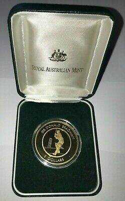 1996 Australia Special Tribute to Sir Donald Bradman $5 Proof Coin