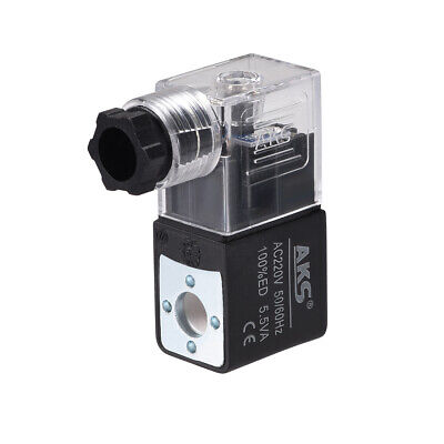 AC 220V Clear Electric Solenoid Air Valve Coil for 4V210 Series Red Light