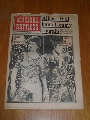 Nme 1973 October 27 David Bowie Rolling Stones Pete Townshend T Rex Maggie Bell