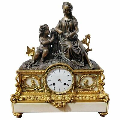 Napoleon III Mantel Clock by Japy Freres 19th Century