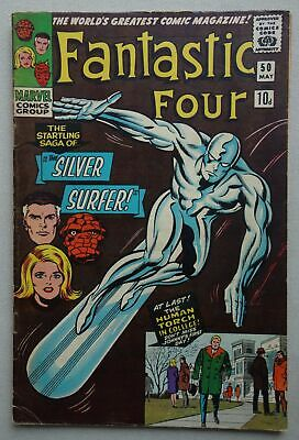 Fantastic Four comic #50 - May 1966 Marvel Comics VG+ (phil-comics)