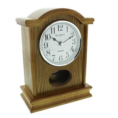 Oak Finish Wood Mantel Clock With Pedulum.new And Boxed.wooden Mantle