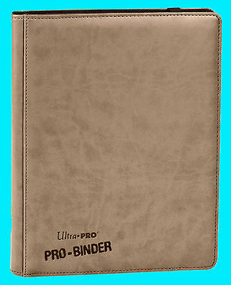 ULTRA PRO 9 POCKET PREMIUM LEATHERETTE WHITE BINDER STORAGE 360 Card 20 Pages