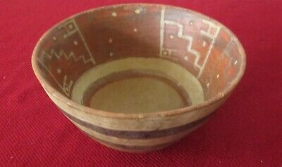 ANTIQUE ancient PRE-COLUMBIAN Art POTTERY BOWL Central America