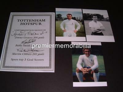 Tottenham Hotspur Fc Jimmy Greaves Bobby Smith Martin Chivers Signed (Printed)