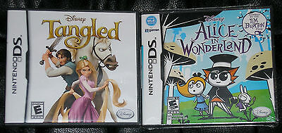 Nintendo DS Lot - Disney Tangled (Used) Disney Alice in Wonderland (New)