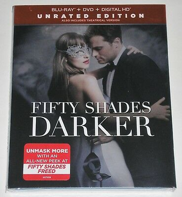 Fifty Shades Darker -- Unrated Edition (Blu-ray + DVD) NEW