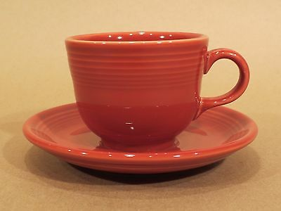 HLC Fiesta Cup & Saucer • 452 & 470 • Paprika • Homer Laughlin China Company