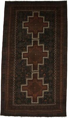 Tribal Hand Knotted Balouch 4'8X8'6  Wool Rug Oriental Home Decor Carpet