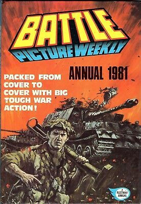Battle picture Weekly Annual 1981 War Action Guns Uboat Soldiers Fokker Divers