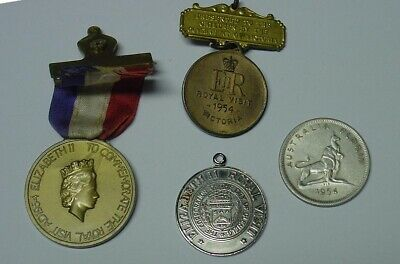 1954 Royal Visit to Australia, two medals and coin.