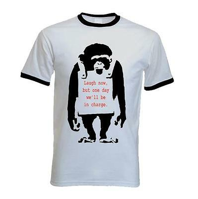 BANKSY LAUGH NOW MONKEY T-SHIRT - Choice Of Colors - Sizes S to XXL
