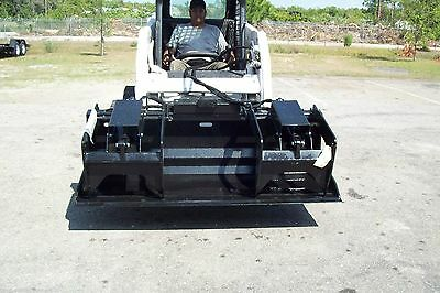"""Skid Steer Grapple Bucket 72"""",HD Design,Protected Cylinders,Made in USA,Site Pro"""