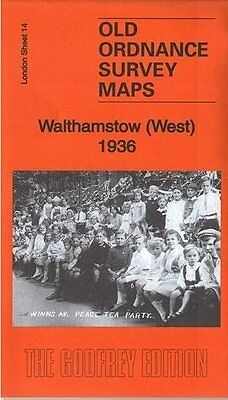 Old Ordnance Survey Map Walthamstow (West) 1936