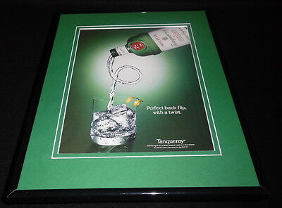 1993 Tanqueray Gin Backflip Framed 11x14 ORIGINAL Advertisement