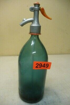 2949.  Alte Sodaflasche  Siphonflasche 1 L  Old Soda Siphon Seltzer Bottle