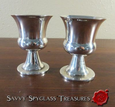 TWO Royal Hickman Denmark Silver Plate Urn Toothpick Holders