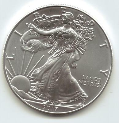 2017  Uncirculated American Silver Eagle  1-Troy oz. .999 Silver. Eagle is Clean