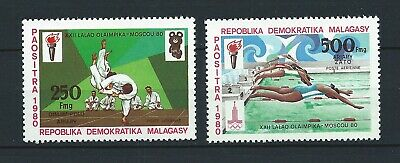 MADAGASCAR - 1980 YT 180 à 181 - POSTE AERIENNE - TIMBRES NEUFS** MNH LUXE