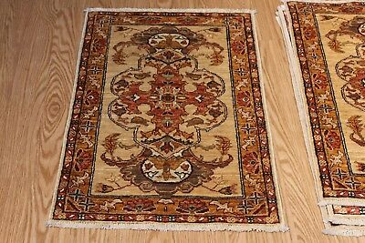 2' x 3' Handmade Persian Design made out of natural wool natural dyes throw rug