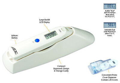 ADC ADTEMP 424 Clinical Typanic Ear Thermometer w/ Case