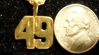 bling gold plated game fashion number 49 pendant charm hip hop necklace jewelry