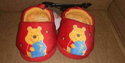 DISNEY WINNIE THE POOH BABY SLIPPERS SIZE 2 3 4 5 6 NWT Baby Boy or Girl