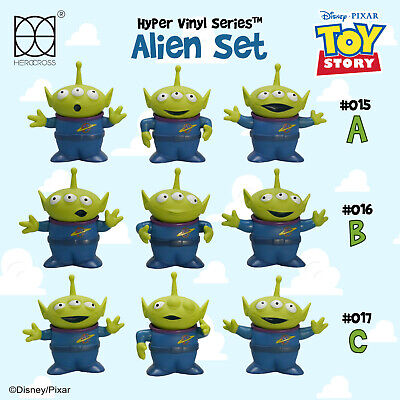 "HEROCROSS HVS #015 Disney Toy Story Alien Set of 9 3"" Vinyl Figure Complete Set"