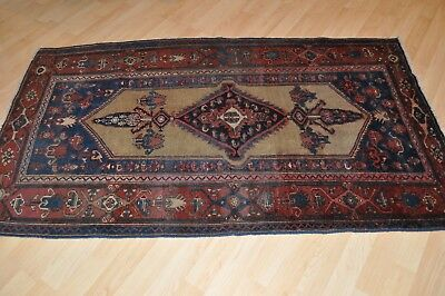 "Antique Persian Hamadan lilihan 6' X 3'6"" Great  Authentic Handmade Rug #pm75"