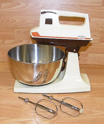 Vintage Sunbeam Mixmaster Marrón & 12-Speed Counter Top Mezcla Paquete Leer
