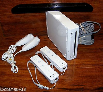 Nintendo Wii White Backwards Compatible Console System PLAYS GAMECUBE