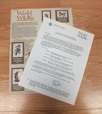 Authentic World Wildlife WORLD Of Stamps Collectible Series Sheet W/ COA READ