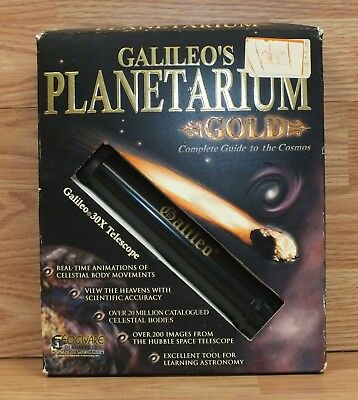 Galileo's Gold Planetarium Cosmos Guide (Windows) 20 Million+ Celestial Bodies