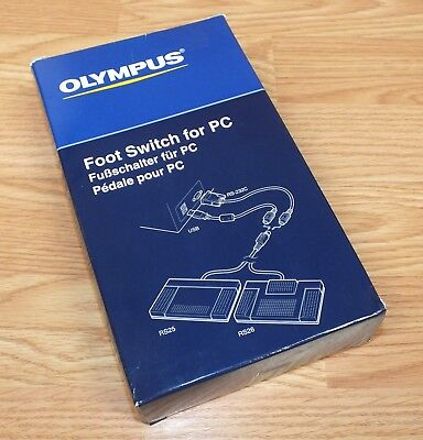 Genuine Olympus (RS25) Imaging Corporation Black Foot Switch For PC (AU0504)