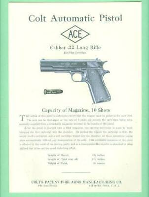 Colt Model Woodsman Match Target EARLY Owners Manual Reproduction