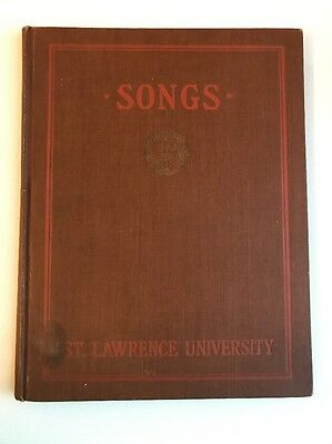 1921 Songs of St Lawrence University cheers book hardcover OLD ALMA MATER