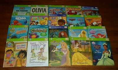 Lot Of 3 Leap Frog Disney Princess Tag Reading Books Learn
