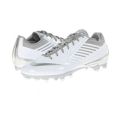 New Nike Vapor Speed Lacrosse Cleats Shoes White / Silver Size 16 M LAX Re: $120