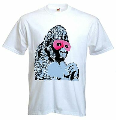 BANKSY CAT /& MOUSE WOMENS T-SHIRT Choice Of Colour Sizes S to XL