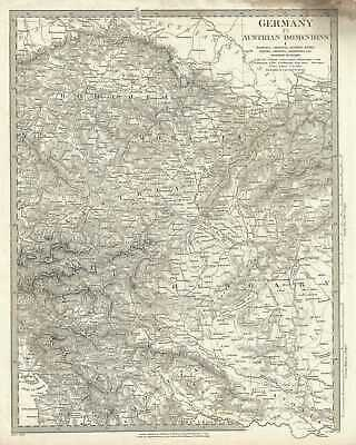 1832 S. D. U.K.Subscriber's Map Of Tschechische Republik, Ungarn, Austria And
