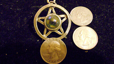 bling pewter 5 POINT STAR myth WITCH druid pendant charm chain necklace jewelry