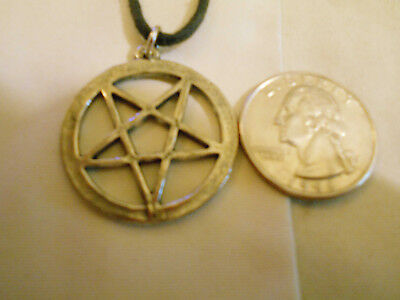 bling pewter 5 POINT DOWN STAR MYTH WITCH WIZARD pendant charm necklace JEWELRY