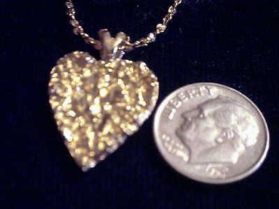 bling gold plated love nugget heart pendant charm rope chain hip hop necklace gp