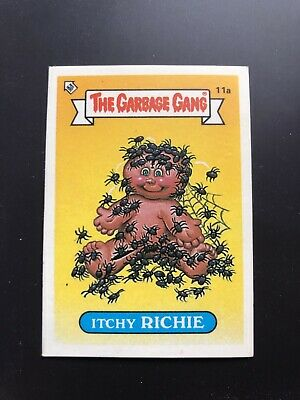 The Garbage Gang Itchy Richie 11a 1985 Card Sticker Vintage